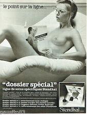 PUBLICITE ADVERTISING 115  1978  STENDHAL   dossier spécial SEINS NUS