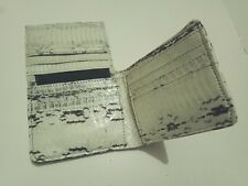 Free Shipping Genuine Snakeskin Leather Mens Slim Bifold Wallet Natural #02