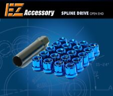20 Pc Set Open End Spline Drive Lug Nuts | Blue | 12x1.25 | for Infinit Subaru