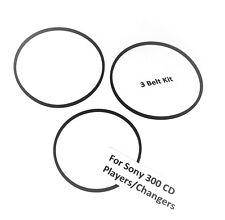 SONY 300 CD Player Belts - 2 Drive Belts & 1 Door belt see more models