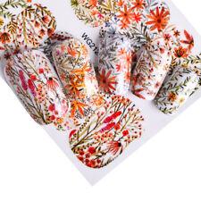 Nail Art Pegatinas Transfers Calcomanías de Agua flores de otoño invierno otoño (WG2124)