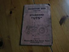 MINNEAPOLIS-MOLINE STANDARD 'UTS TRACTOR INSTRUCTION  BOOK. No. R789A