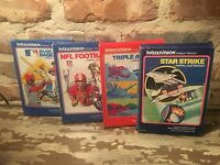 Lot of 4 Mattel Intellivision Cartridges, Star Strike, Triple Action, 2 others