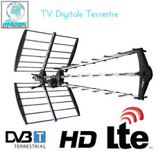 ANTENNA TV DIGITALE TERRESTRE DIRETTIVA FULL HD LTE UHF DVB-T TRIPLA LTE 4G 44