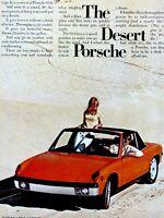 """1973 Porsche 914 The Weather Porsche Original Print Ad-8.5 x 11"""""""