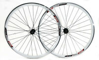 Speed Aero 700c Road Bike Double Wall Alloy Wheelset 8-10 Speed White QR NEW