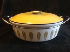 "Vintage Cathrineholm Green Lotus 10.5"" Dutch Oven with Lid"