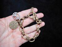 Authentic Vintage Antique Bronze LUCKY BRAND Toggle Bracelet