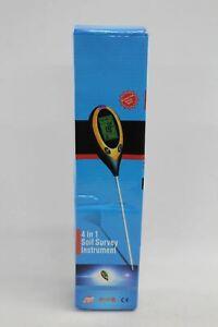 4 In 1 Soil Meter PH Tester Water Moisture Light Kit For Garden Plant NEW