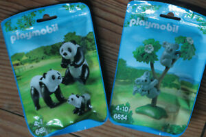Playmobil Wild Life Animals Zoo Panda, Koala, Phacochères Choice 6652 6654 6941