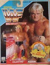 Figura WWF Hasbro Greg Valentine Series 3 Tarjeta Azul MOC