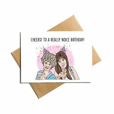 Kath and Kim, tv series, funny birthday card with decal sticker