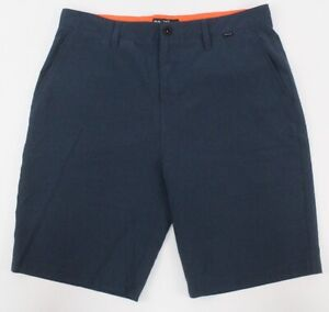 navy blue HURLEY Phantom board shorts hybrid for Buckle tech stretch 33 x 9.5