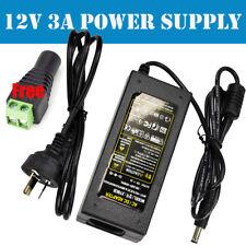 AU Power Supply Adapter Transformer AC240V To DC12V 3A for LED Strip AU NSW