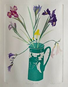 SHEILA OLINER (1930 - 2020) - COLOURED ETCHING, 39.5 x 30cm, ARTIST'S PROOF