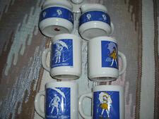 Morton Salt Collectible 4 Ceramic Mug Set with Sugar Bowl and Creamer