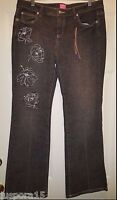 Sexy Drew The Limited Jeans NWT Womens Grayish Black Floral Jeans Pants Size 12