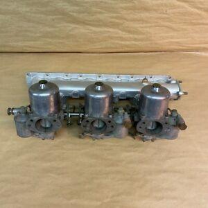 Original Jaguar XKE E-Type S1 4.2L Triple SU HD8 Carb Intake Manifold C24420 OEM