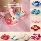 9-Color Baby Girl Kids Flower Sandals Infant Toddler Handmade Crochet Knit Shoes