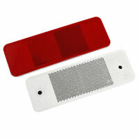 2pcs Red Rectangle Car Truck Warning Reflective Plate Tape Reflector Stickers