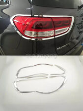 Chrome Rear Light Cover for 2015-2017 KIA Sorento L Tail Lamp Lights 8pcs ABS