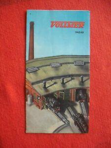 Rare Vintage VOLLMER HO Gauge 1962 63 Leaflet Model Railway Guide Catalogue