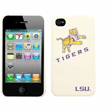 NCAA LSU TIGERS Spirit Collection iPhone 4  White Hardshell Cell Phone Case