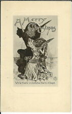 BA-166 A Merry Christmas Where there is Mistletoe There Is Hope 1907-15 Postcard