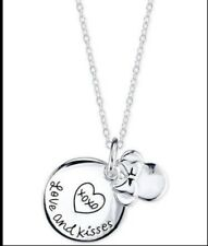 "Disney Sterling Silver Minnie Mousse ""Love and Kisses"" Necklace"