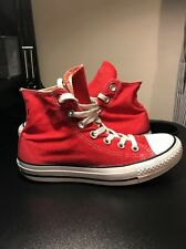 Converse All Star Hi Top Red Trainers/boots Size Women's 4 UK Unisex Pumps VGC