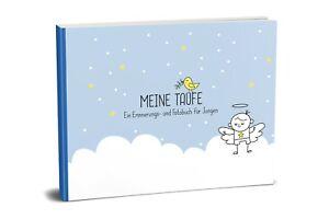 Taufbuch für Jungen: Meine Taufe (Fotoalbum, Taufalbum, Gästebuch, blau)   NEU