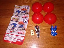 Sonic The Hedgehog Pull Backs figures Gacha TOMY Shadow cars 2012 SEGA Racing