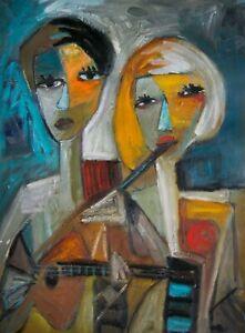 """Original Art Portrait Painting on Primed Canvas 24"""" x 18"""
