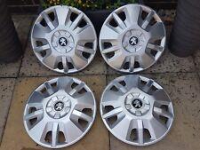 "Genuine Peugeot Boxer 15"" Wheel Trims Hub Caps x4 Brand New"