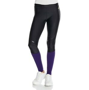 Asics Women's Running Tights Muscle Support Sports Tights - Black/Purple - New