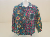 Disney Mickey & Co. Plaid Shirt Long Sleeve Gasoline Super Brand Size Large