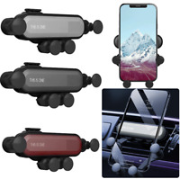 Mobile Phone Car Holder Gravity Stand Bracket Air Vent Clip Dashboard Mount UK