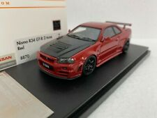 1/43 HPI RACING 8870 NISMO Z TUNE R34 GTR RED NISSAN SKYLINE model car