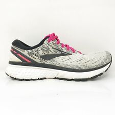 Brooks Womens Ghost 11 1202771B192 Gray Pink  Running Shoes Lace Up Size 7.5 B