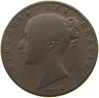 GREAT BRITAIN FARTHING 1838 VICTORIA #s50 691