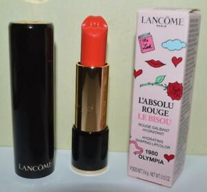LANCOME Olympia #1980 L'Absolu Rouge Le Bisou Hydrating LipColor LIMITED ~ BNIB