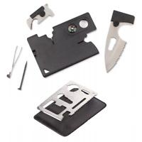 EDC Multitool Kreditkarte Taschenmesser Flaschenöffner Pinzette Lupe Werkzeuge