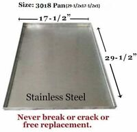 """Dog Crate Tray Pet Crate Pan Stainless Steel Chew Proof Dog Crate-29.5""""x17.5""""x1"""""""