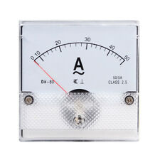 1PC Square Analog Panel AMP Current Meter AC 0-50A Ammeter Gauge DH-80 80*80