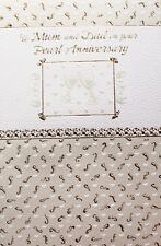 To Mum and Dad on your Pearl Anniversary greeting card, 30 years, brand new