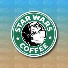 "Star Wars and Coffee 4"" Storm Trooper Dark Side Custom Vinyl Decal Sticker"