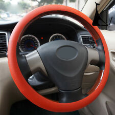 Red Car Auto Silicone Steering Wheel Cover Protector Shell Leather Texture