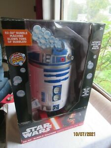 Star Wars R2D2 Bubble Machine 16 Inches Tall Rotate 90°new With Sounds And Light
