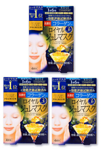 KOSE Clear Turn Premium Royal Jelly & Collagen Face Mask 4 Sheets x 3 lot
