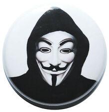 "1"" (25mm)  Anonymous 'V for Vendetta' Revolution Mask Button Badge Pin"